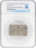 Explorers:Space Exploration, Jewelry: Neil Armstrong's Owned and Worn Personal Native American Design Belt Buckle Directly From The Armstrong Family Co...