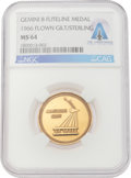 Explorers:Space Exploration, Gemini 8 Flown MS64 NGC Gold-Colored Fliteline Medallion Directly From The Armstrong Family Collection™, CAG Certified. ...