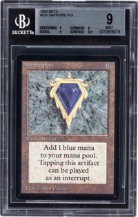 Magic: The Gathering Beta Edition Mox Sapphire BGS 9 (Wizards of the Coast, 1993)