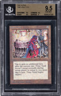 Memorabilia:Trading Cards, Magic: The Gathering Alpha Edition Time Vault BGS 9.5 (Wizards of the Coast, 1993)....