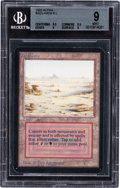 Memorabilia:Trading Cards, Magic: The Gathering Alpha Edition Badlands BGS 9 (Wizardsof the Coast, 1993)....