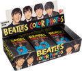 Music Memorabilia:Memorabilia, Beatles Original Topps Bubble Gum Trading Card Display Box Complete With 24 Unopened Card Packs, (USA, 1964)....