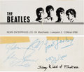 Music Memorabilia:Memorabilia, Beatles Business Card Signed by Johnny Kidd and the Pirates. ...