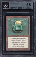 Memorabilia:Trading Cards, Magic: The Gathering Beta Edition Mox Emerald BGS 8.5(Wizards of the Coast, 1993)....