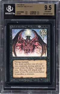 Magic: The Gathering Beta Edition Lord of the Pit BGS 9.5 (Wizards of the Coast, 1993)