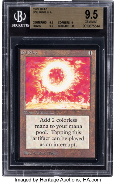 Magic: The Gathering Beta Edition Sol Ring BGS 9 5 (Wizards