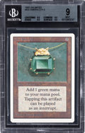 Memorabilia:Trading Cards, Magic: The Gathering Unlimited Edition Mox Emerald BGS 9(Wizards of the Coast, 1993)....