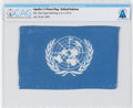 Explorers:Space Exploration, Apollo 11 Flown Flag of the United Nations Directly From The Armstrong Family Collection™, CAG Certified. ...