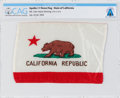 Explorers:Space Exploration, Apollo 11 Flown State Flag of California Directly from The Armstrong Family Collection™, CAG Certified. ...