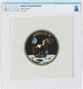 Explorers:Space Exploration, Apollo 11 Flown Beta Cloth Mission Insignia Directly From The Armstrong Family Collection™, CAG Certified....