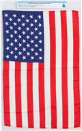 Explorers:Space Exploration, Apollo 11 Flown Largest Size American Flag Directly From The Armstrong Family Collection™, CAG Certified....