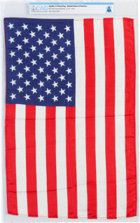 Apollo 11 Flown Largest Size American Flag Directly From The Armstrong Family Collection™, CAG Certified