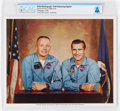 Explorers:Space Exploration, Gemini Goodwill Tour: Neil Armstrong Signed Color Photo Pictured with Richard Gordon Directly From The Armstrong Family Co...