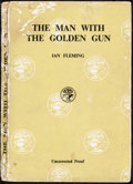 """The Man with the Golden Gun (Jonathan Cape, 1965). Fine+. British Paperback Uncorrected Proof Book (221 Pages, 5"""" X..."""