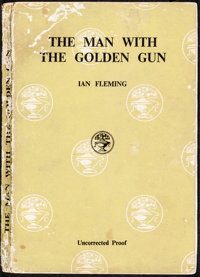 "The Man with the Golden Gun (Jonathan Cape, 1965). Fine+. British Paperback Uncorrected Proof Book (221 Pages, 5"" X..."