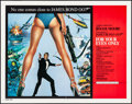 """Movie Posters:James Bond, For Your Eyes Only (United Artists, 1981). Folded, Very Fine+. International Half Sheet (22"""" X 28"""") Brian Bysouth Artwork. ..."""