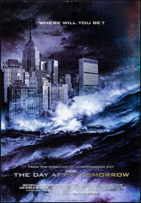 """The Day After Tomorrow (20th Century Fox, 2004). Rolled, Fine/Very Fine. Lenticular Poster (27"""" X 39""""). Scienc..."""