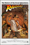 """Movie Posters:Adventure, Raiders of the Lost Ark (Paramount, R-1982). Rolled, Very Fine+.One Sheet (27"""" X 41""""). Richard Amsel Artwork. Adventure.. ..."""
