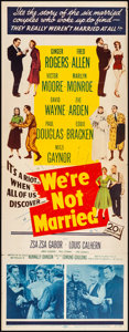 "Movie Posters:Comedy, We're Not Married (20th Century Fox, 1952). Folded, Fine/Very Fine.Insert (14"" X 36""). Comedy.. ..."