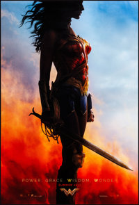 "Wonder Woman (Warner Brothers, 2017). Rolled, Very Fine/Near Mint. One Sheet (27"" X 40"") DS Advance. Action..."