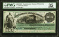 Confederate Notes:1861 Issues, T3 $100 1861 PF-2 Cr. 3 PMG Choice Very Fine 35.. ...