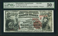 National Bank Notes:Pennsylvania, Philadelphia, PA - $100 1882 Brown Back Fr. 522 The Market Street NB Ch. # (E)3684 PMG About Uncirculated 50 EPQ.. ...