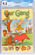 Golden Age (1938-1955):Humor, Our Gang Comics #12 (Dell, 1944) CGC NM- 9.2 Off-white to white pages....