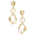 Estate Jewelry:Earrings, Moonstone, Gold Earrings, Temple St. Clair. ...
