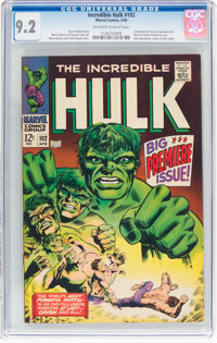 The Incredible Hulk #102 (Marvel, 1968) CGC NM- 9.2 Off-white to white pages