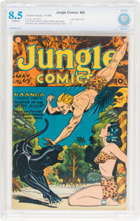 Jungle Comics #65 (Fiction House, 1945) CBCS VF+ 8.5 Off-white pages