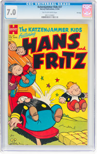 Katzenjammer Kids #27 File Copy (Harvey, 1954) CGC FN/VF 7.0 Tan to off-white pages