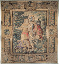 Textiles, A Flemish Tapestry, 17th century. 112-1/2 x 103 inches (285.8 x 261.6 cm). ...