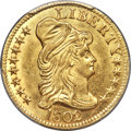 Early Half Eagles, 1802/1 $5 BD-8, R.4, MS64+ PCGS. CAC....