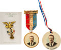 Political:Pinback Buttons (1896-present), Theodore Roosevelt: Three Natural Color Badges....