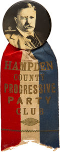 Political:Pinback Buttons (1896-present), Theodore Roosevelt: Bold Ribbon Badge....