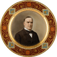 William McKinley: Stunning Royal Vienna Plate