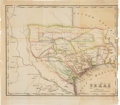 Miscellaneous:Maps, Texas: Circa 1840 Map by George Conclin....