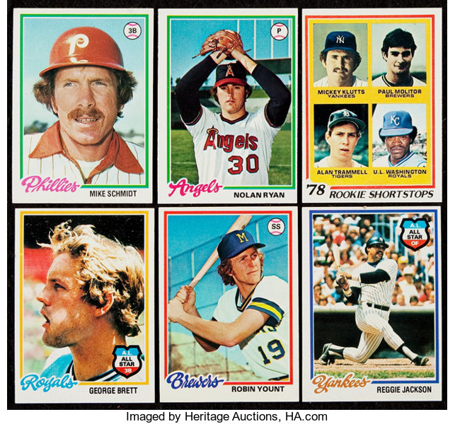 1978 Topps Baseball Near Set 725726 Baseball Cards