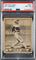 Baseball Cards:Singles (1940-1949), 1940 Play Ball Joe Jackson #225 PSA NM-MT 8 - None Higher....
