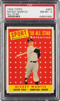 Baseball Cards:Singles (1950-1959), 1958 Topps Mickey Mantle All-Star #487 PSA NM-MT 8....