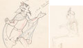 Animation Art:Production Drawing, The Goddess of Spring Pluto and Persephone AnimationDrawings Group of 2 (Walt Disney, 1934). ... (Total: 2 OriginalArt)