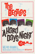 Movie/TV Memorabilia:Posters, A Hard Day's Night (United Artists, 1964). ...