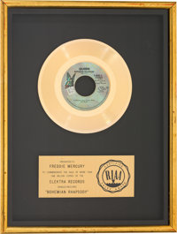 "Queen ""Bohemian Rhapsody"" RIAA Gold Record Sales Award Presented to Freddie Mercury"