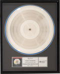 Music Memorabilia:Awards, Queen A Day At the Races Original Metal Master Silver Platein Frame....
