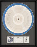 Music Memorabilia:Awards, U2 Rattle and Hum Original Silver Metal Master Plate for Side Two in Frame (Island, 1988)....