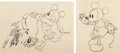 Animation Art:Production Drawing, Mickey's Nightmare Mickey Mouse and Baby Animation DrawingsGroup of 2 (Walt Disney, 1932). ... (Total: 2 Original Art)