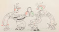 Animation Art:Production Drawing, Woodland Cafe Dancing Bugs Animation Drawing (Walt Disney,1937)....