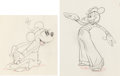 Animation Art:Production Drawing, Mickey's Rival Minnie Mouse and Mortimer Mouse AnimationDrawings Group of 2 (Walt Disney, 1936).... (Total: 2 Original Art)