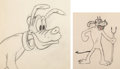 Animation Art:Production Drawing, Mickey's Pal Pluto Devil Pluto Animation Drawing and PlutoAnimation Drawing Group of 2 (Walt Disney, 1933/40's). ... (Total:2 Items)