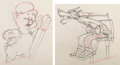 Animation Art:Production Drawing, The Practical Pig Practical Pig and the Big Bad WolfAnimation Drawings Group of 2 (Walt Disney, 1939). P... (Total: 2Items)